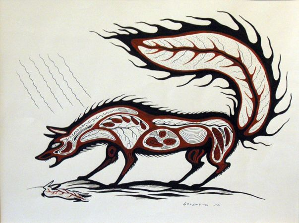 carl ray art | Fox :: Carl Ray :: Woodlands Indian Art :: Gallery Phillip