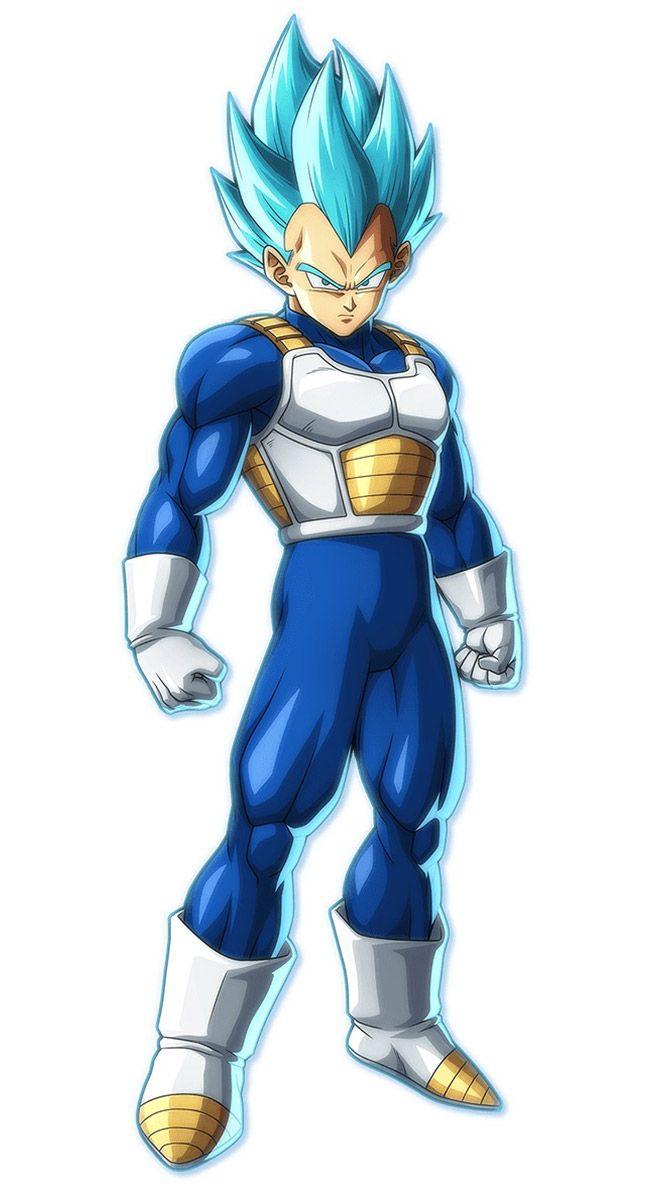 Super Saiyan Blue Vegeta From Dragon Ball Fighterz Anime Dragon