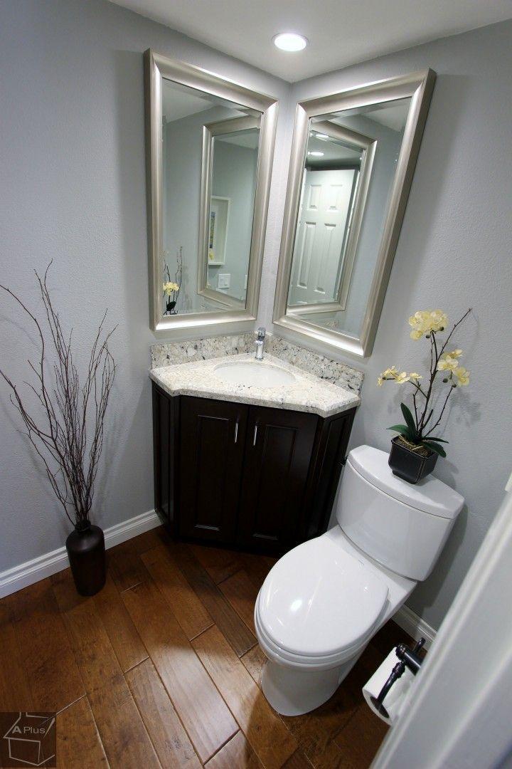 39 best half bath ideas images on pinterest architecture for Small bathroom sink ideas