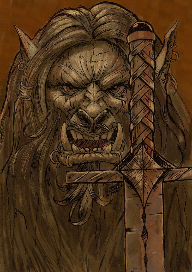 ArtStation - Orc Warrior and Sword, Máté Lukács