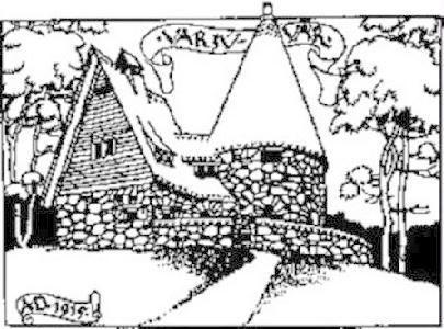 A sztánai Varjúvár. Kós Károly rajza