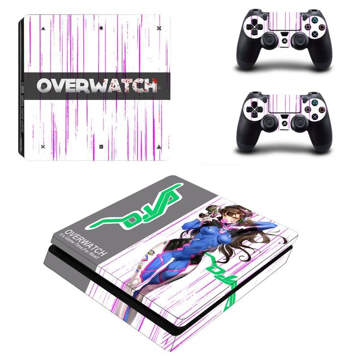 Overwatch ps4 slim skin decal for console and 2 controllers