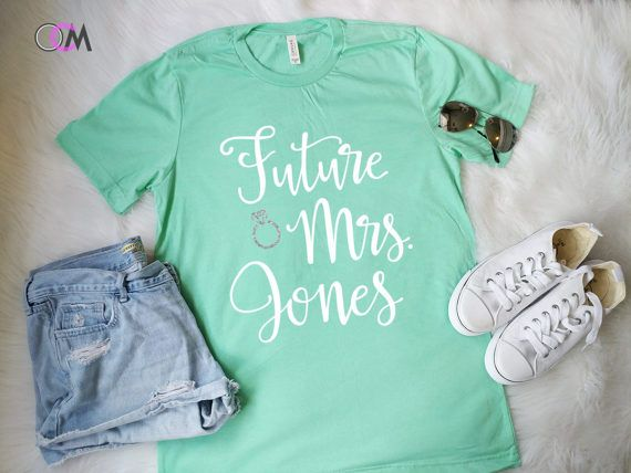 Future Mrs Shirt Raglan Bride Wedding Engagement