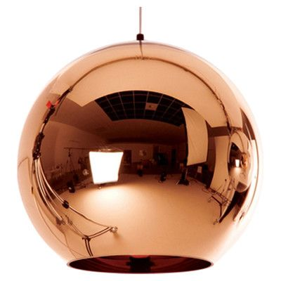 Tom Dixon Copper 1 Light Globe Pendant & Reviews   Wayfair.ca
