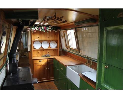 NB Pilgrim. I love the freestanding wood stove.