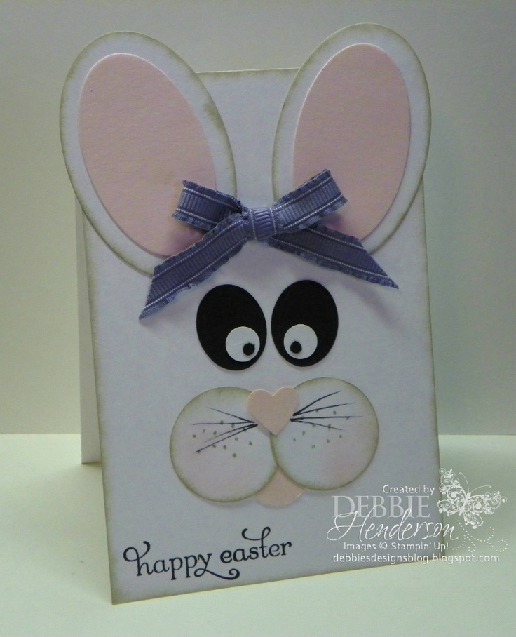 Easter Bunny using Stampin' Up! products by Debbie Henderson, Debbie's Designs.
