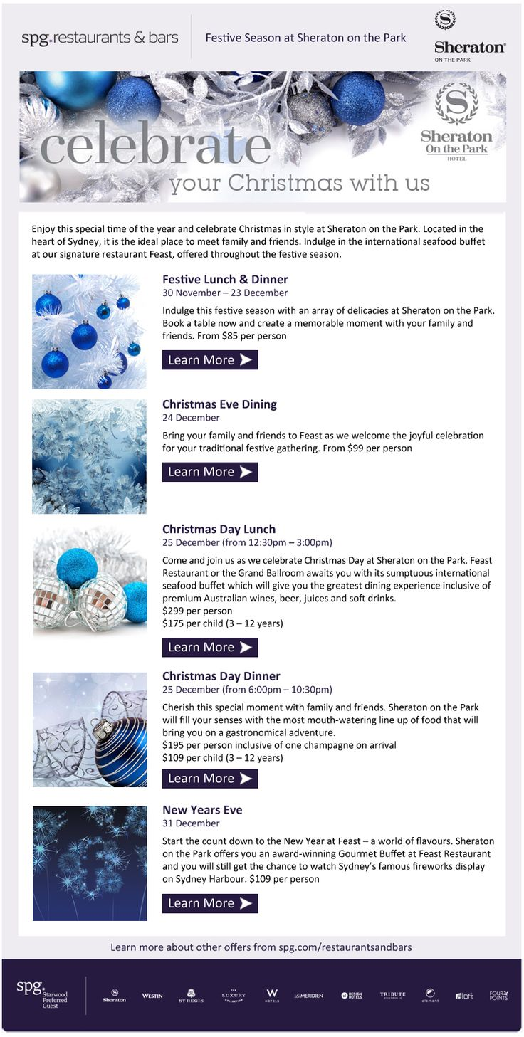 Celebrate your christmas with Sheraton On The Park Hotel