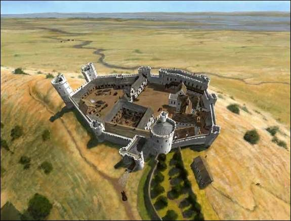 Dominic Andrews - Hadleigh Castle in Essex around 1370 CE