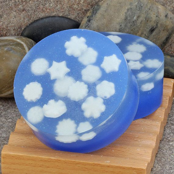Just in time for winter - snowflake embedded soap.