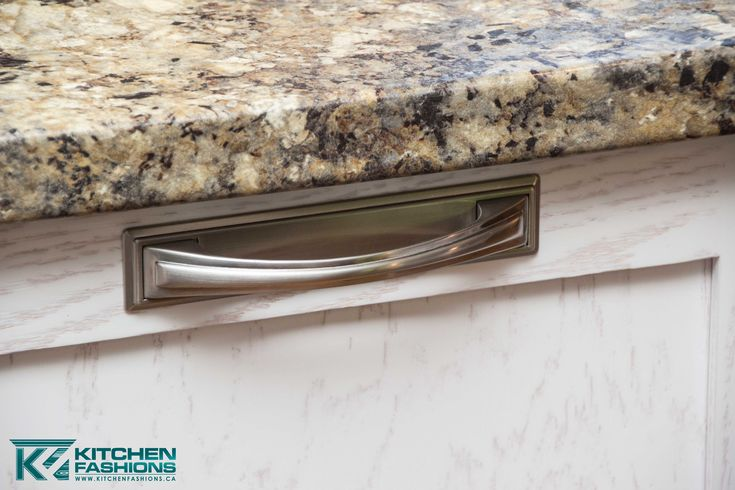 Brushed nickel (Silver) hardware pulls with square back.