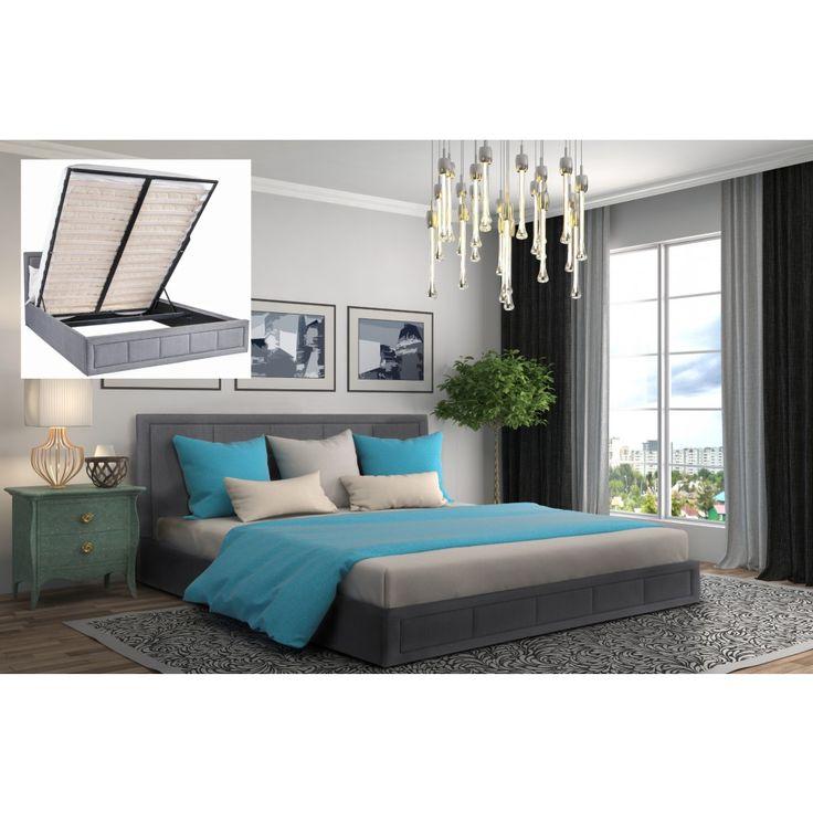 Gia Ottoman Fabric Storage Bed