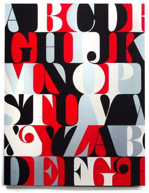 House Industries - Caslon Alphabet Print