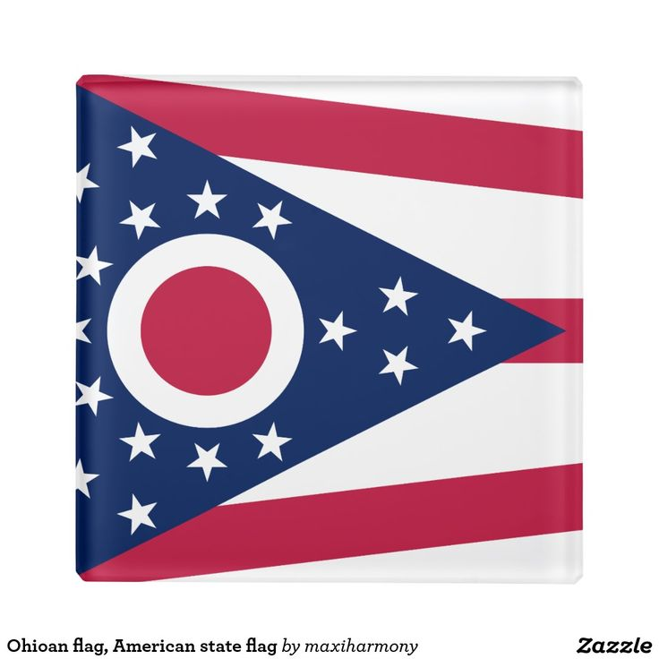 Ohioan flag, American state flag Glass Coaster