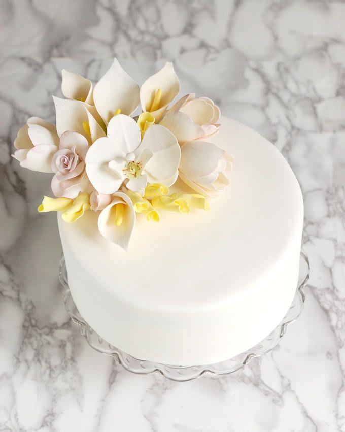 How To Make Rolled Fondant Homemade Fondant Rolling Fondant Beautiful Cake Designs
