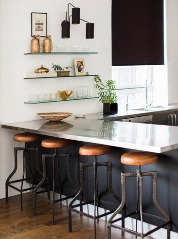 Perfect transmission between the kitchen and the Living Room |  Nate Berkus Interiors | NoHo Loft