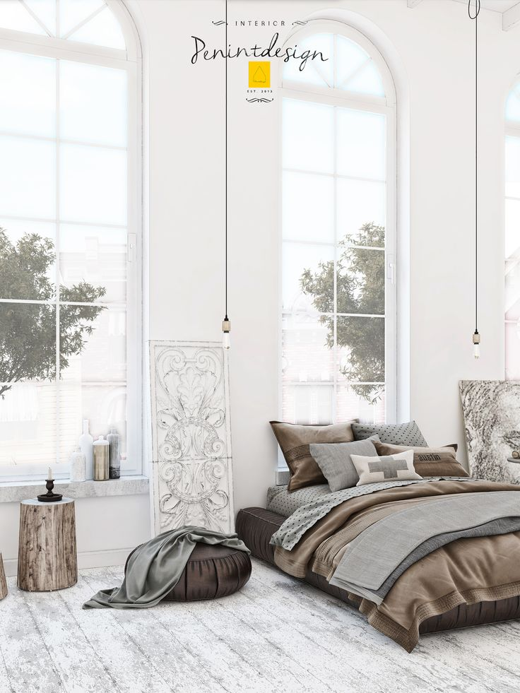 @Behance projeme göz atın: \u201cScandinavian Bedroom\u201d https://www.behance.net/gallery/43541193/Scandinavian-Bedroom