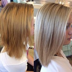 Going from Brunette to Blonde is not an easy process. A lot of clients think it can just be done in one visit, by putting one color all over the hair, simple as that...but that's not the case. It takes skill, patience, confidence, experience, a colorist who knows her stuff, and a client who is