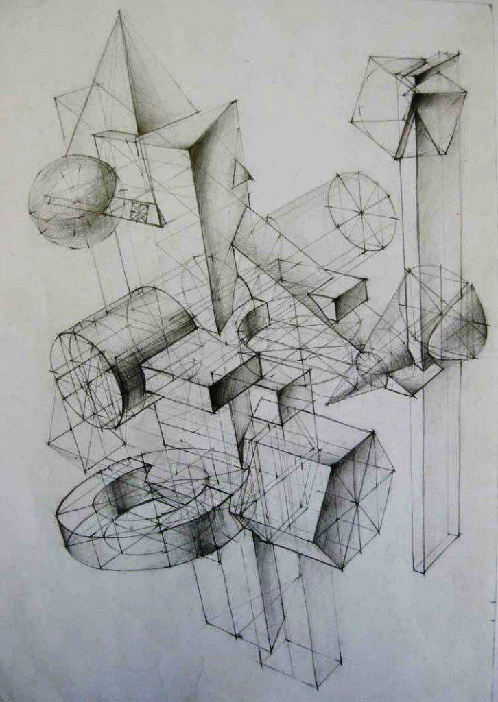 Znalezione obrazy dla zapytania композиция из геометрических тел мархи