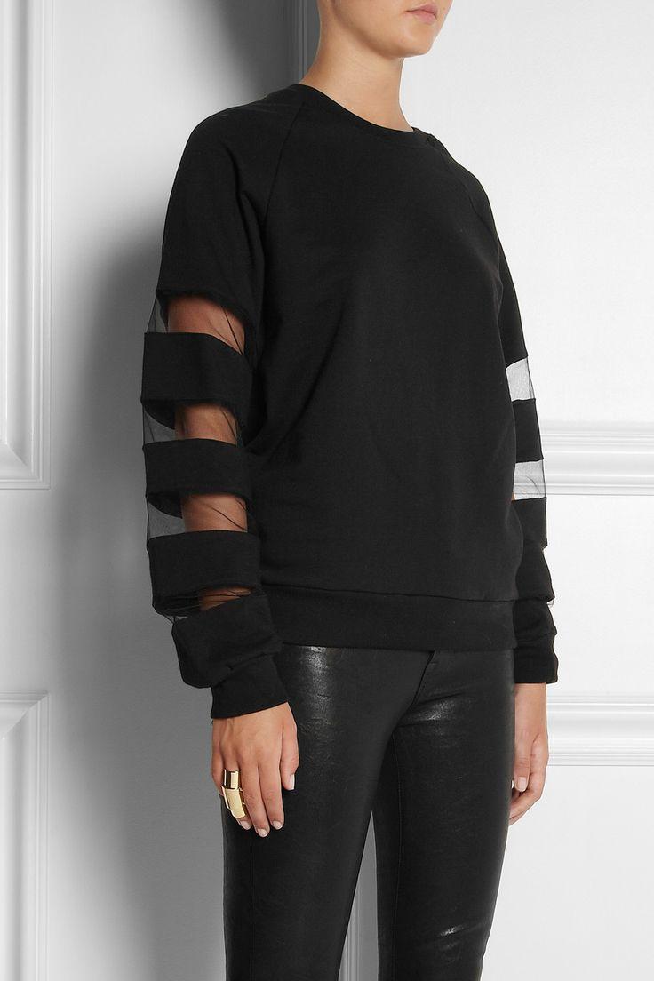 TNTees | Dodo mesh-paneled cotton-fleece sweatshirt | NET-A-PORTER.COM