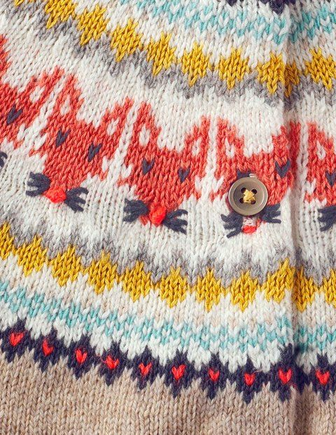 Fair Isle Cardigan 30018 Clothing at Boden More