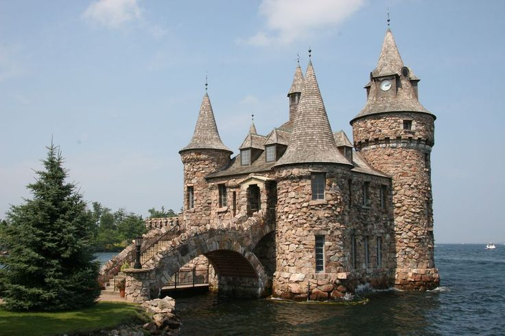 Who wouldn't want to get married in a castle!?! Photo of Boldt Castle for fans of Castles. Another view of the Power House of Boldt Castle, located on Heart Island, New York.