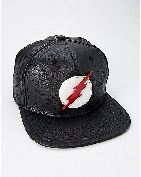 dfb1b1fe5347a Black The Flash Snapback Hat - DC Comics - Spencer s