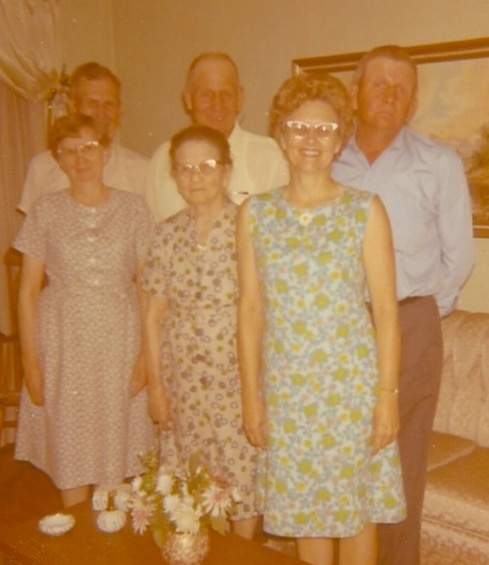 Gillim family: Mary Beverly, Urey Lee, mother Sara, Hugh, Marjorie and Franklin