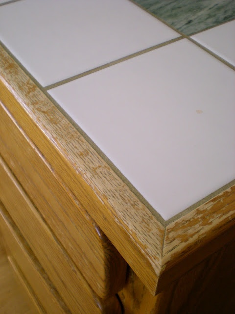 We Will Not Have Tile Countertops With Wood Trim In Our