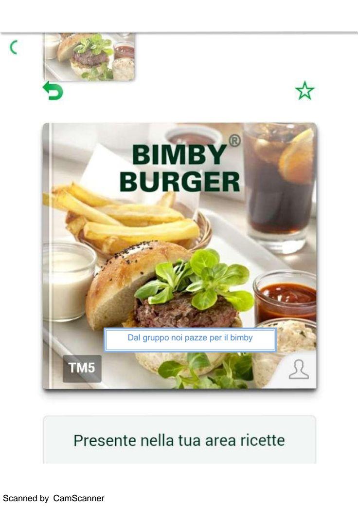 Bimby Burger ricettario ... Pagina 1 di 55
