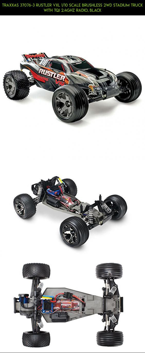 Traxxas 37076-3 Rustler VXL 1/10 Scale Brushless 2WD Stadium Truck with TQi 2.4GHz Radio, Black #parts #drone #gadgets #rustler #tech #shopping #fpv #products #technology #kit #racing #camera #traxxas #plans