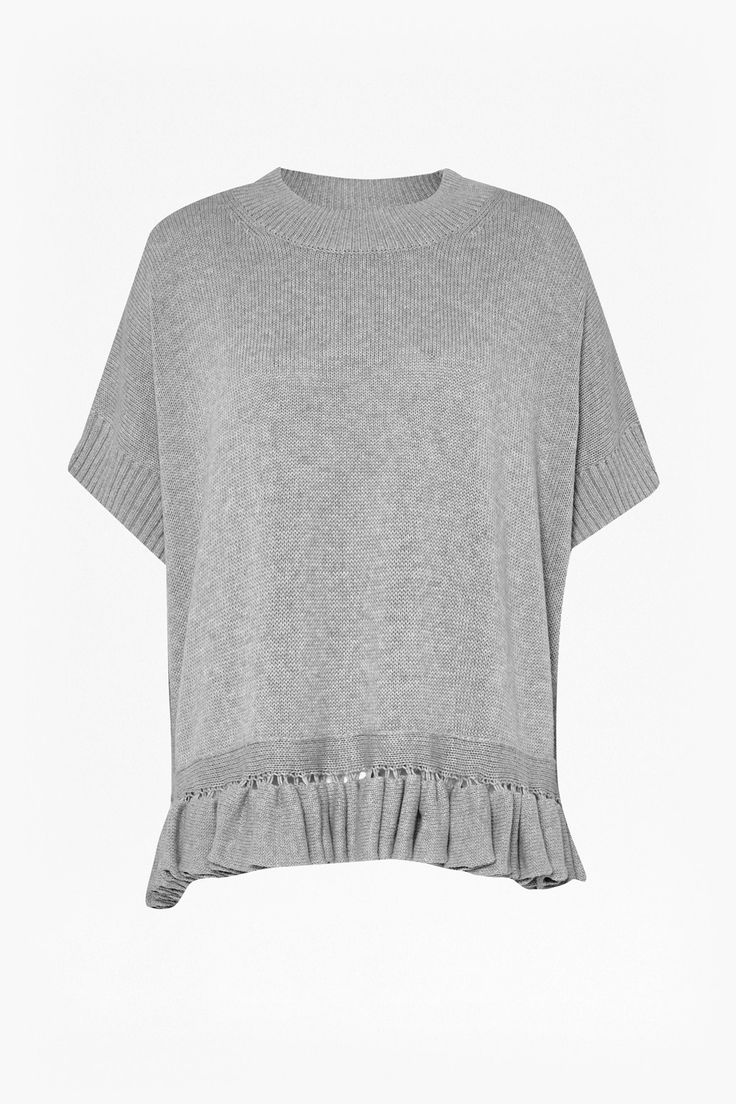 Frill Knits Round Neck Jumper - Knitwear - French Connection