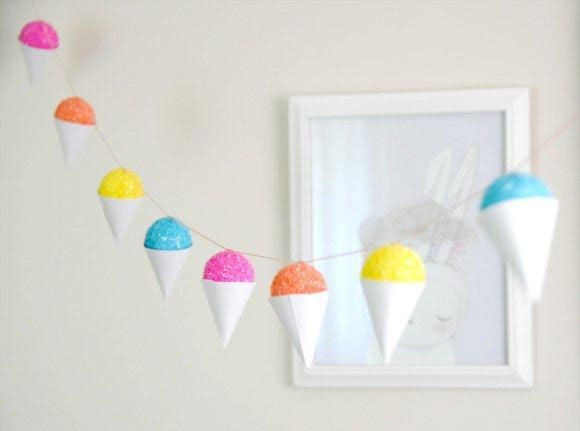 Faux Snow Cone Garland from Creature Comforts