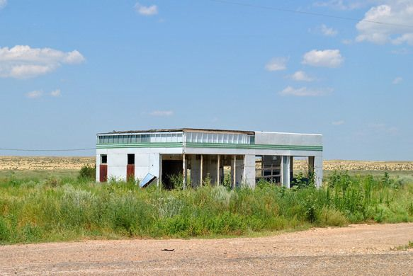 Glenrio Ghost TownThe old Route 66 town straddling Texas and New Mexico died along with the Main Street of America.
