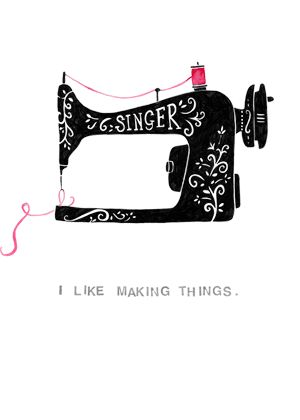 I ike making things sewing machine greeting card or wall print                                                                                                                                                                                 Mais