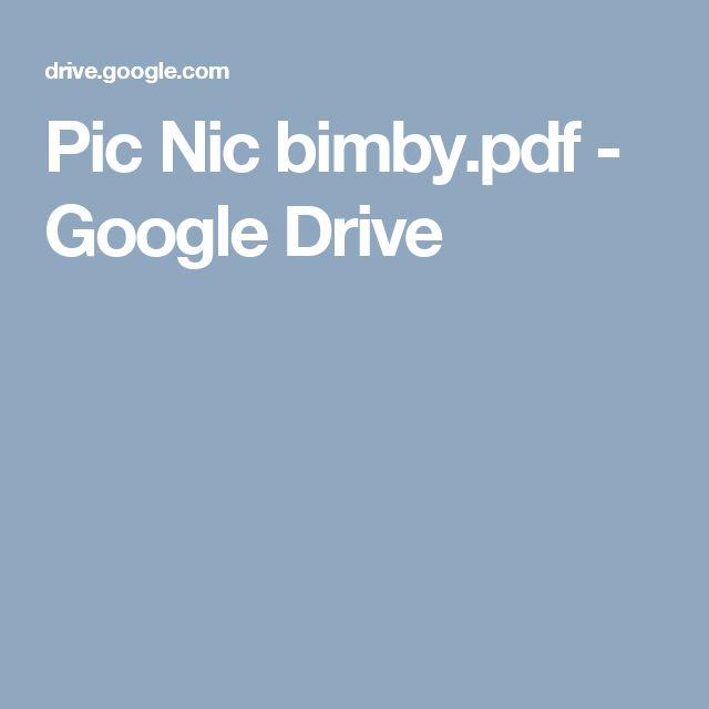 Pic Nic bimby.pdf - Google Drive