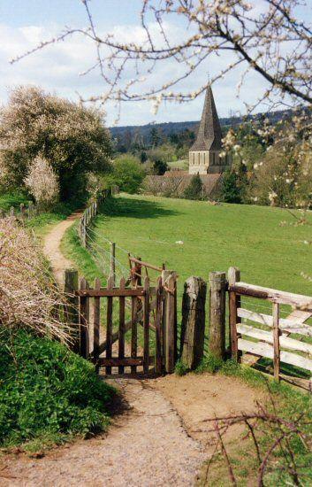 english countryside   Tumblr St. James Church, Shere, Surrey, England.