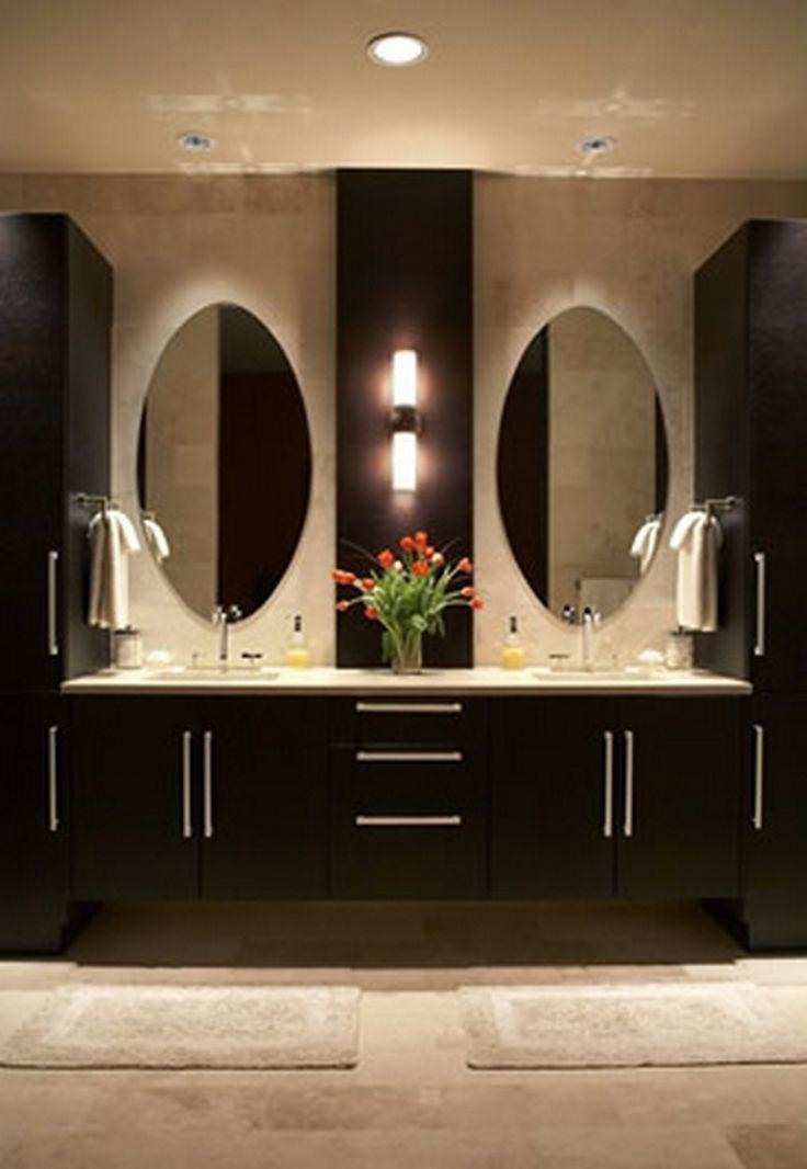 Best 25 modern master bathroom ideas on pinterest grey - Modern bathroom cabinets vanities ...