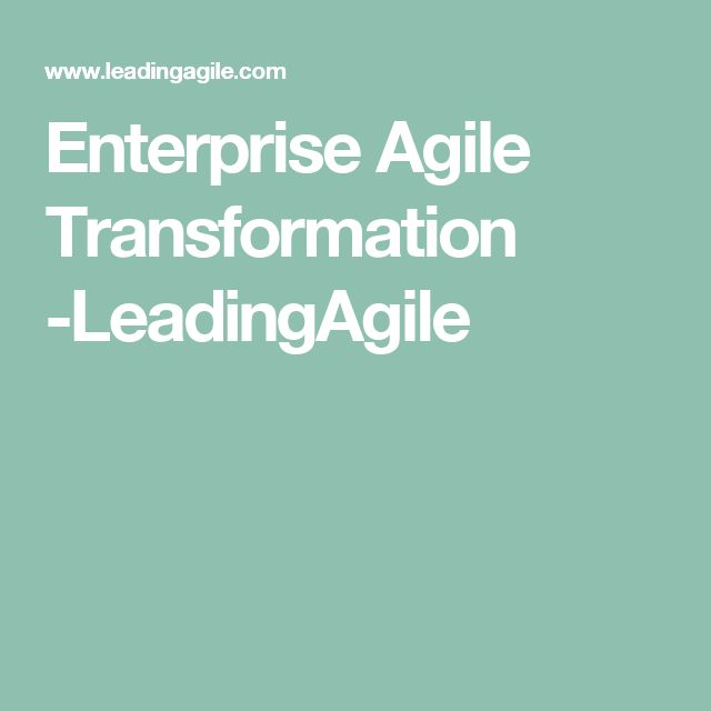 Enterprise Agile Transformation -LeadingAgile