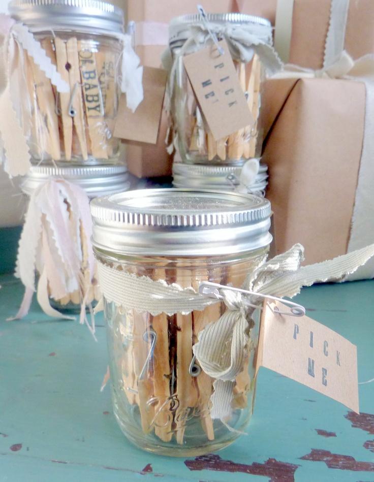 pinterest mason jar bridal shower favors%0A DIY clothes pin favors  Shower FavorsParty FavorsCreative CraftsWrapping  IdeasDiy ClothingBaby ShowersCanning JarsTattingShower Ideas