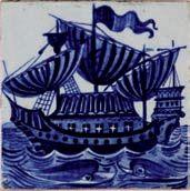 William De Morgan tile. Catleugh collection.