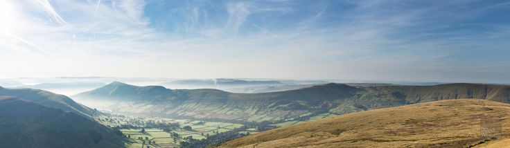 Early in Edale - A view into Edale from Grindslow Knoll in the Peak District, UK. Taken at sunrise today.