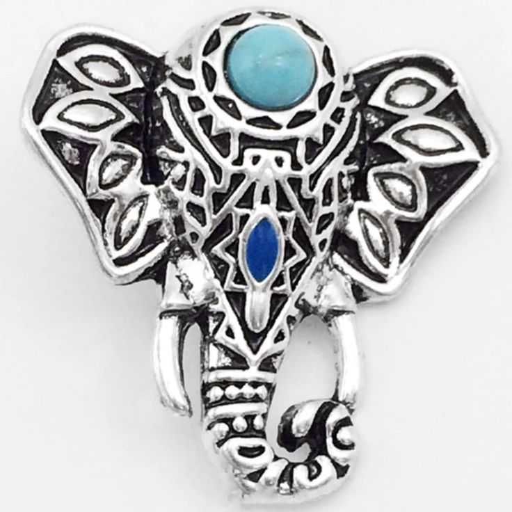 Tibetan Elephant 18 mm snap for all 18 mm snap jewelry and accessories now available at www.shugasnap.ca