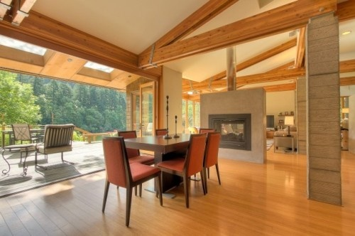 Sliding wall/window - want to do this between the dining room and the deck.