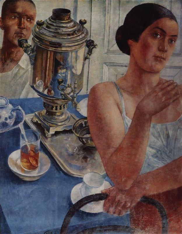 Kuzma Petrov-Vodkin , The samowar, 1926