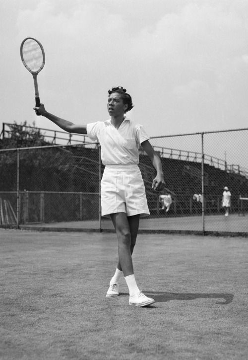 Althea Gibson was the first African American to play and win at Wimbledon and the U.S. Nationals (precursor of the U.S. Open) — a decade before Arthur Ashe.