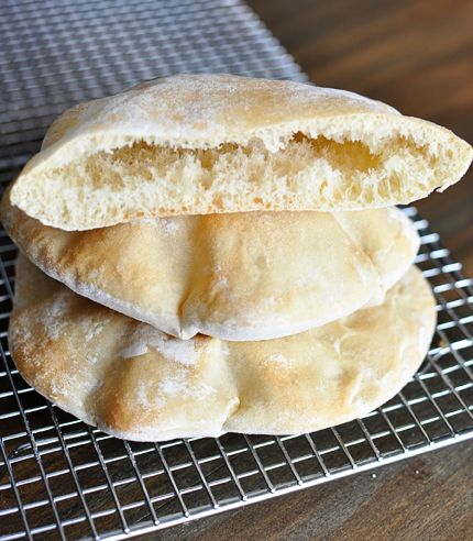 Homemade Pita Bread - These are damn good. Just made them, and they puffed in the oven perfectly.  This is a keeper recipe.