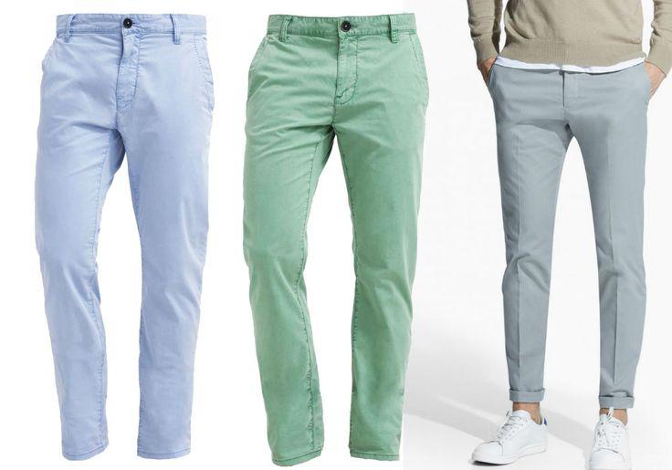 pastelowe spodnie