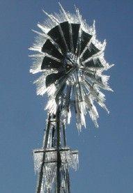 ice on windmill