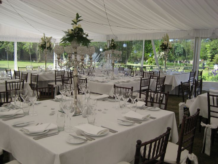 Wedding square tables