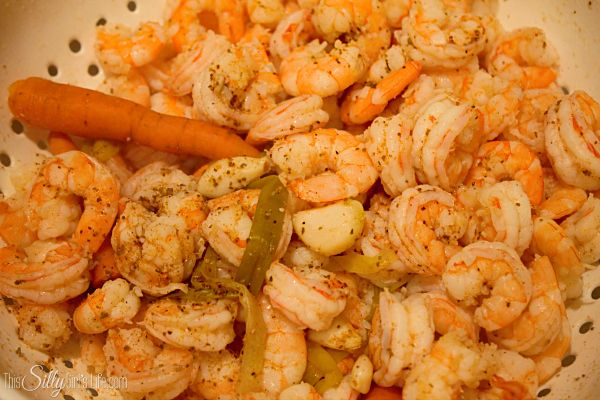 Drunken Shrimp Cocktail, adding white wine and a ton of spices really ...